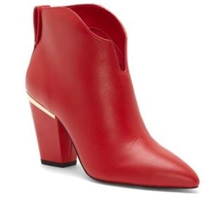 1.State red leather booties Is-Corben size 6.5